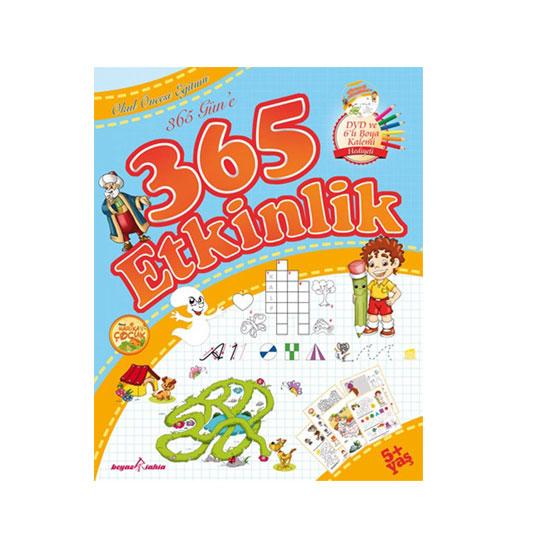 Nakkaş Okul öncesi 365 Güne 365 Etkinlik Kitabı Dvd 6 Li Boyama